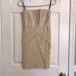 Cream party dress from bebe